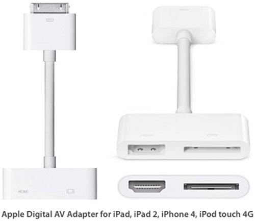 apple hdmi adapter. apple ipad 2 digital av adapter hdmi