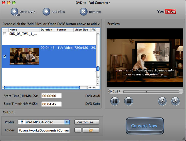 Flv to iPad Converter for Mac