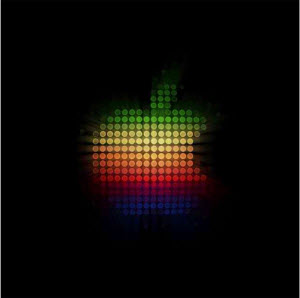 iPad Wallpaper Apple Dots Logo