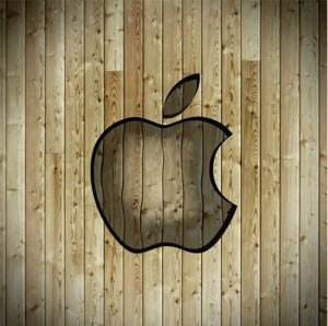 iPad Wallpaper Apple Wood