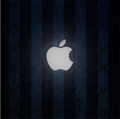 iPad Wallpaper Blue Apple