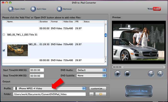 Convert DVD to iPhone on Mac