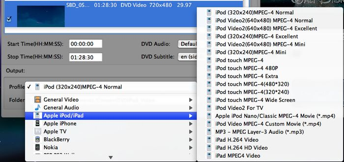 Convert DVD to iPod Touch Nano Classic on Mac