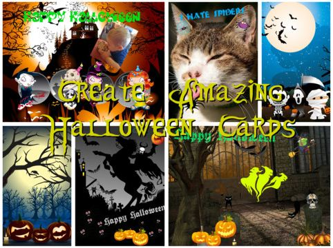 Free Halloween Card Creator iPad App 2011