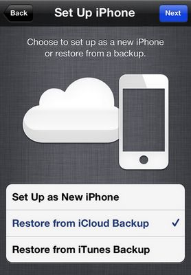 restore iPhone with iCloud or iTunes