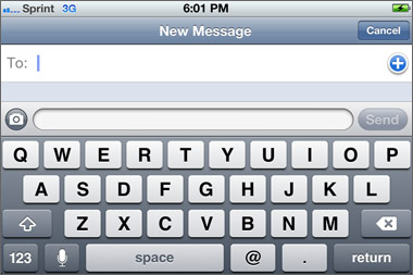 type faster on iPhone 4S keyboard