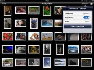 iPad Photo App's Slideshow feature