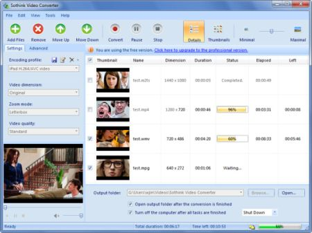 Sothink free video converter is a freeware that can convert almost any ...