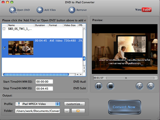 Convert AVI to iPad Video on Mac
