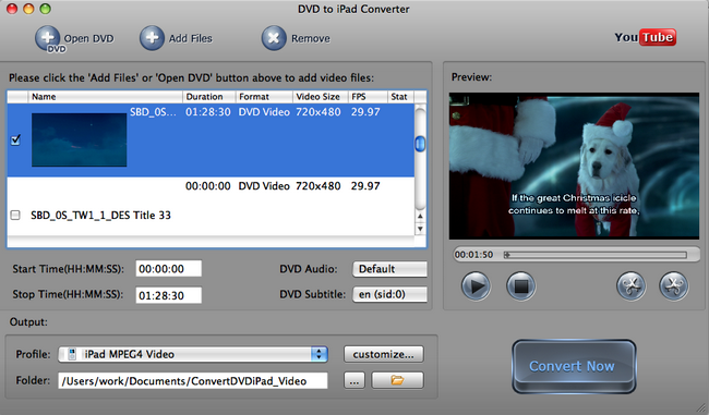 Convert VOB to iPad Video on Mac